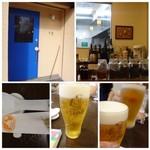 四川料理 巴蜀 - まずは「ビール」を。中:500円、小:350円。