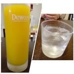 四川料理 巴蜀 - ◆次に「芋焼酎:450円」、「マンゴジュース(無料)」