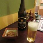 和楽庵 - 瓶ビール・お通し