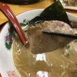 ラーメン さくら - 鹿野豚ラーメン チャーシューリフト〜(*^▽^*)