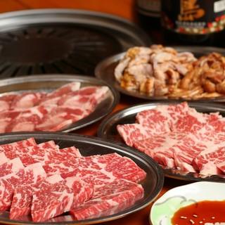 牛肉・豚肉・鶏肉の塩焼肉♪