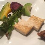 鉄板焼 南々西 - 琉球野菜の鉄板焼き 南瓜、紅いも、ヘチマ、宮古ゼンマイ、島豆腐。