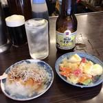 平野屋 - ポン+ポテサラ+ジャコおろし