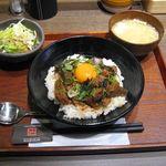 京都 肉食堂 - ゴリラ飯セット(2017.03)