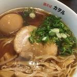 鶏そば カヲル - 鶏そば 醤油 味玉のアップ〜(*^▽^*)