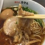 鶏そば カヲル - 鶏そば 醤油 味玉のメンマリフト〜(*^▽^*)