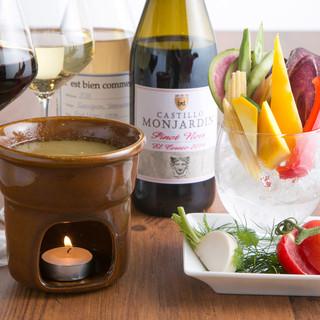 お料理に合う自然派ワインもどうぞ♪