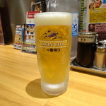 らあめん花月嵐 - 生ビール(520円)