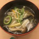 白鷹 - 25種類の野菜が入った沢煮椀