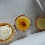 CHEESE CRAFT WORKS - レアチーズタルト、三種のチーズのタルト、ゴルゴンゾーラチーズのタルト