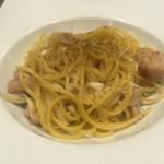 神田バル - 鶏の米麹漬けと長ネギのパスタ 650円