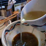 麺鮮醤油房 周月 - スープ割りは必然