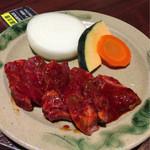 肉の館 羅生門 - 焼肉定食  メイン 辛口ダレ