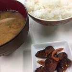 おかもと鮮魚店  - お味噌汁とごはんのセット