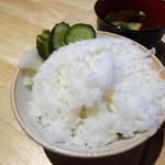鎌倉おでん波平 - 刺身盛り合わせ定食:ご飯