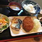 神田 優和ぎ - ランチ友の鯖塩焼きメンチカツランチ@1,000円