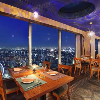 圧倒的開放感!東京上空を散歩しているかのような絶景ビュー