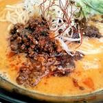 四川担々麺 いぶし銀 - 辛い挽き肉