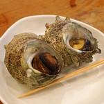 魚三酒場 - サザエのツボ焼き