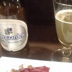串揚げ 串の実 - ホワイトビール・・。