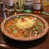 トリッピンスパイス - 料理写真:手羽元の豆乳コルマカレー&ラクサ風豚バラカレー 合いがけ☆