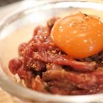 焼肉ホルモンブンゴ - 炙りユッケ
