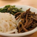 焼肉ホルモンブンゴ - ナムル盛合せ