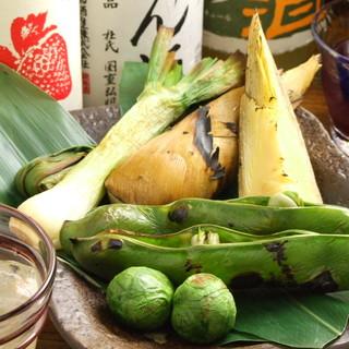 【旬野菜盛り合わせ】季節限定人気メニュー