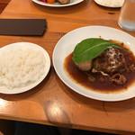70030784 - 牛すじシチューかけハンバーグステーキ(ランチ1000円税込)