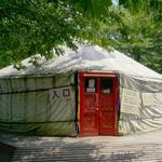 あさひパン - 『ゲル』と呼ばれるモンゴル遊牧民の移動式住居の中で頂きました。