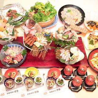 旬の魚介類・無農薬水耕栽培の野菜が盛りだくさん!