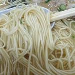 宝来軒 - 「ラーメン」自家製の極細ストレート麺(カタメ指定)