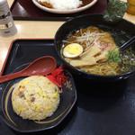 四六時中 - 純輝鶏ラーメンミニ炒飯セット ¥790