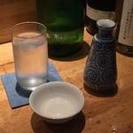 縁 YENISHI - 山和・特別純米中取り原酒Rockを燗で。クレスタいやマークⅡ、いやチェイサーもオートで供されすばらしい。