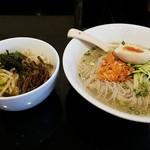 清香園 - 冷麺セット(小ビピンパ付き)