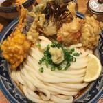 釜たけ流 うめだ製麺所 - 鶏野菜天ぶっかけ(´∀`)2タマ