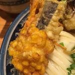釜たけ流 うめだ製麺所 - コーン天(´∀`)コレ美味しい