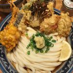 釜たけ流 うめだ製麺所 - 鶏野菜天ぶっかけうどん(^。^)
