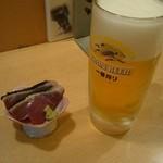 新横のまぐろや  - 生ビール