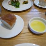 アッラゴッチャ - パンとオリーブオイル