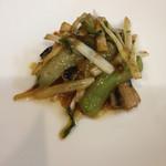 彩雲瑞 - [絲瓜炒鰻魚] 天然ウナギとヘチマの炒め