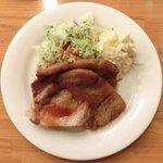 キッチンれん - 豚肉の生姜焼き+ライス 1000円 の豚肉の生姜焼き