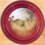 キッチンれん - 豚の生姜焼き 900円 の味噌汁
