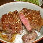 ワラウカド - 牛ひれ丼