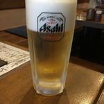 でんすけ - やっぱり生ビールでしょ(*^▽^*)