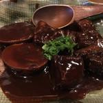 でんすけ - 味噌おでん 牛肉串、豚角煮串、玉子