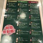 熟成肉バル イチノミヤウッシーナ - メニュー