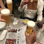 熟成肉バル イチノミヤウッシーナ - 乾杯!