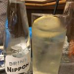 やきとり おくしり - レモンハイ(370円)