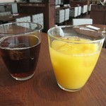 Oriental Beach - アイスティー/オレンジジュース